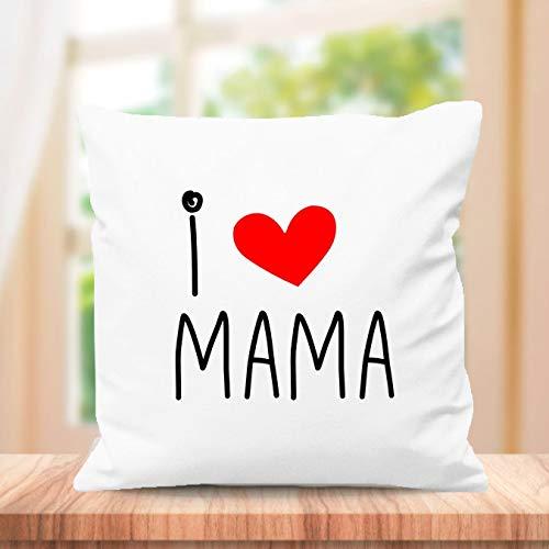 SUPER STICKER Cojín Cuadrado Personalizado, para el Mejor mamá del Mundo, Regalo día de la Madre (m3)