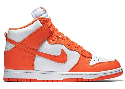 Nike Dunk HI Retro, Zapatillas de bsquetbol Hombre, White Orange Blaze White, 47 EU