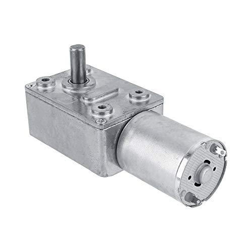 Caja de engranajes Motorreductor de gusano sinfín de alto par reversible Caja de cambios DC 12V Motor eléctrico de reducción CW/CCW para ventanas un cabrestante en miniatura para abridor(5RPM)