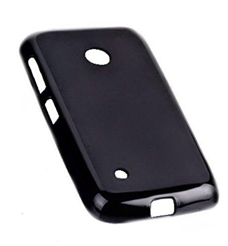 Silikon TPU Dark Hülle in Schwarz für Nokia Lumia 530 – Cover Hülle Schale Kappe