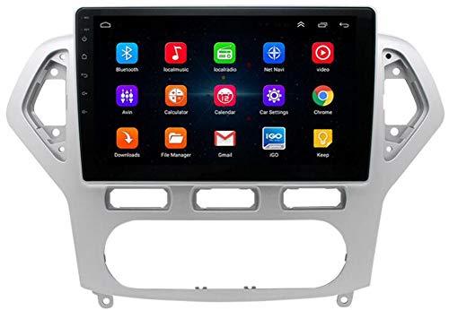 WYFWYT Android 9.1 Estéreo Doble DIN Unidad de Coches para Receptor de Radio Ford Mondeo 2007-2011 GPS 10.1 Pulgadas de Pantalla táctil Reproductor Multimedia carplay DSP RDS,WiFi:2+32g
