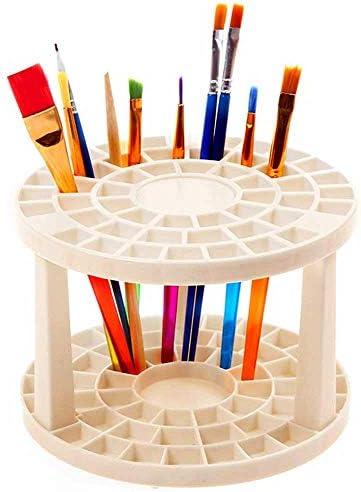 49 Hole Plastic Pencil Brush Holder Multi Bin Organizer Desk Stand Holding Rack for Markers product image