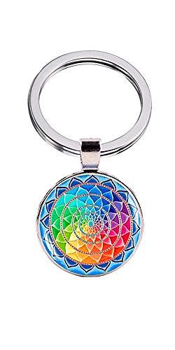 Publisit - Llavero, diseño de flor de loto, yoga, chakra, mandala, idea regalo para niña o mujer