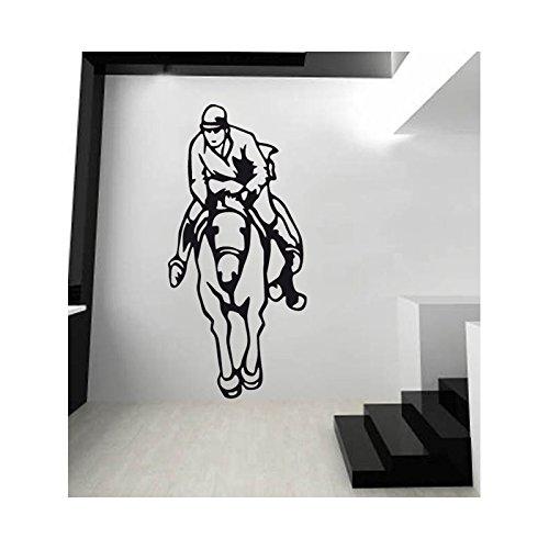 CSO Paard en Paard Stickers - Bordeaux - L 50 cm x H 109 cm