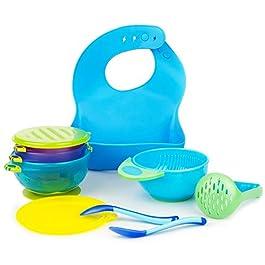 Baby Feeding Set Silicone Bib Plate Suction Bowl Soft Heat Sensitive Spoons BPA Free Self Feeding Set Adjustable Bib Easily Wipe Clean Perfect Infant Baby Toddler Shower Gift
