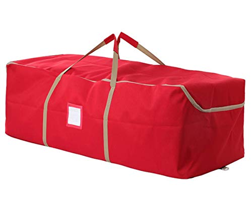 iiSPORT Christmas Tree Storage Bag Christmas Tree Bag for 6ft, 7ft Artificial Tree, Waterproof and Sturdy, Red, 49' L x 14' W x 20' H