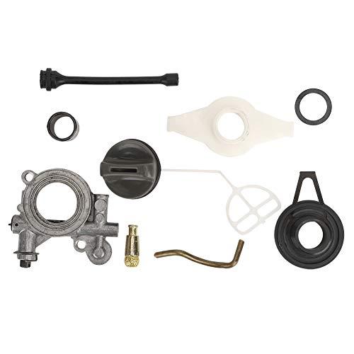 Duokon Motosierra Bomba de Aceite Engranaje helicoidal Kit de Filtro de Manguera de Combustible para Husqvarna 372XP 365 371 385 390 362 570 575 576
