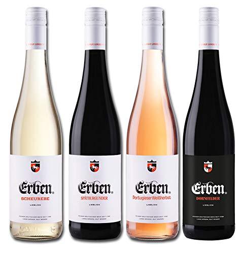 Liebliches Erben Wein Quartett Deutschland Probierpaket (4 x 0.75 l)