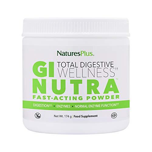 Nature's Plus GI Natural Drink Powder 174g - Natural Gut Health Supplement for Total Digestive Wellness - Probiotics, Enzymes, L-Glutamine - Vegetarian, Gluten Free - 30 Servings