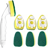 LIUMY Dishwand Sponges, 1 Dish Wand and 7 Refills Sponges, Dish Scrubber Dishwashing Wand Sponge for Kitchen, Sink