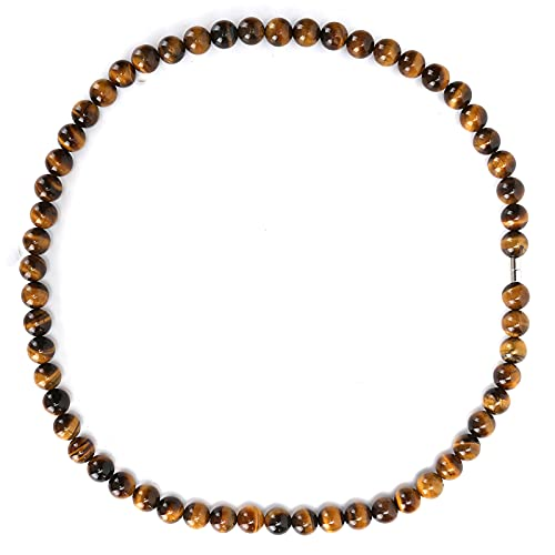 Collar de pulseras Gemston de ojo de tigre natural, pulsera de oración de cuentas de cristal con hebilla magnética, joyería para hombres y mujeres