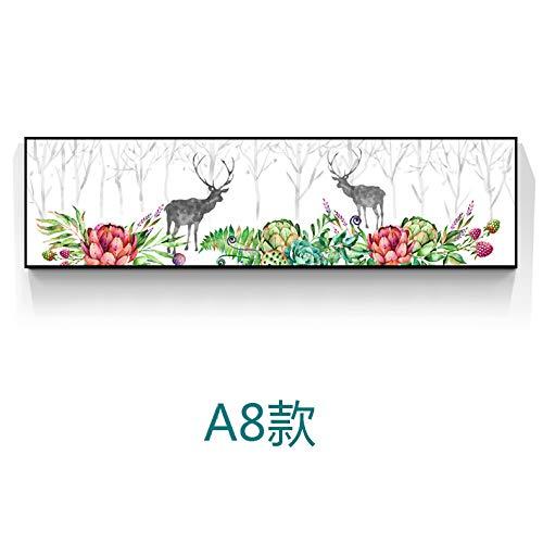 WSNDGWS Pintura Decorativa de Estilo nórdico Elk Moderno Minimalista Sofá Fondo Pintura de Pared Dormitorio Banner Sin Marco F2 35x120cm