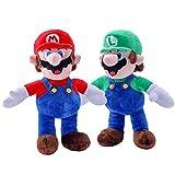 EQUASIS Super Mario Plush, Mario and Luiqi Plush Toys, Soft Stuffed Plush Toys,Set -13in