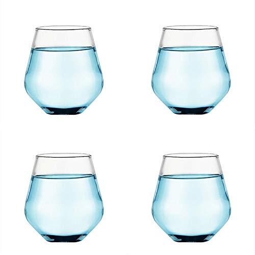 ChuckSss Vasos de Agua Adecuado para Whisky, Jugo, Vino, etc. Collection Uso en Casa, Restaurante y en Fiestas. 400 ml / 13.5 onzas, Apto para Microondas y Lavavajillas (Style C)