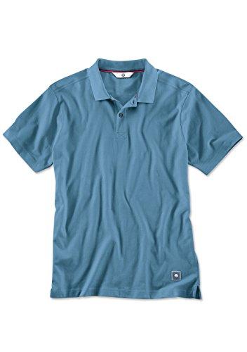 BMW Herren Polo Shirt Stahl Blau (mittel)