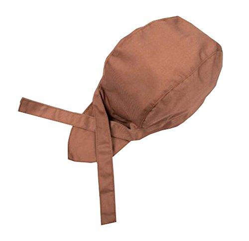 Kaimeng Sombrero de Cocinero Casquillo del Sombrero de Chefs de Moda Gorra de Cocina(marrón)