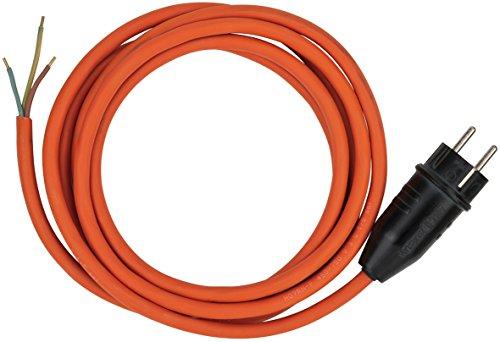 Brennenstuhl BREMAXX Anschlusskabel (3m Kabel, für den langfristigen Einsatz im Außenbereich IP44, einsetzbar bis -35 °C, Made in Germany) orange
