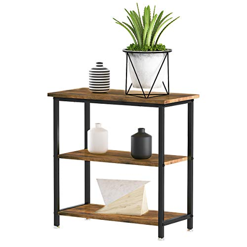 YITAHOME Console Table, Hallway Table with 2 Wood Shelves,Sideboard Easy Assembly (Rustic Brown)