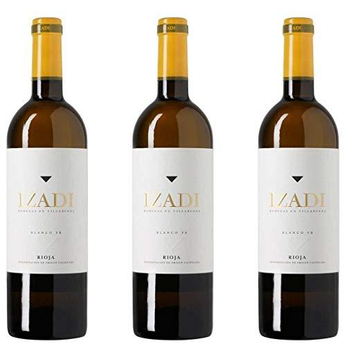Izadi Vino Barrica Blanco - 3 botellas x 750ml - total: 2250 ml