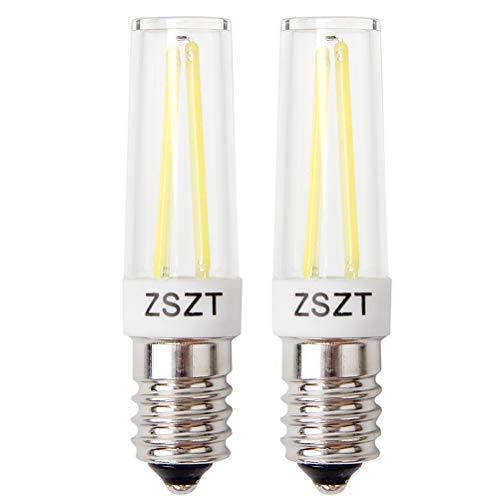 E14 led dunstabzugshaube 5W, Ersatz für 40W Halogenlampen, 500LM Kaltweiß 6000K, Fadenlampe, 220V-240V AC, für Kronleuchter Wandlampe etc(2er-Pack)