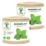 Sommeil Bio - Bioptimal - Complément alimentaire - Mélatonine Naturelle - 4 Plantes pour Dormir - Insomnie Stress Nuit Agitée - 230 mg / gélule - Fabriqué en France - Certifié Ecocert - 120 gélules