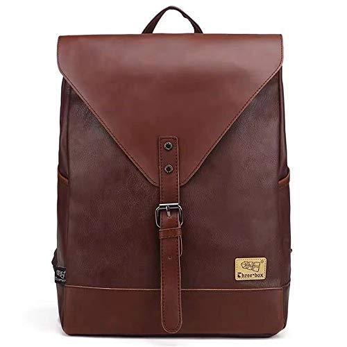 Sac à Dos en Cuir pour Hommes College High School Bag pour GarçOn Hommes Femmes Business Laptop Backpack Bag Water Resistant Sports Backpack,3#