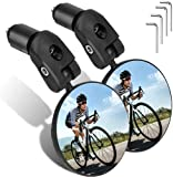 Fahrradspiegel, Rückspiegel Fahrrad-Lenkerenden,fahrrad lenker, Lenker-Fahrradspiegel,fahrradspiegel klappbar,spiegel fahrrad verstellbar 360° Fahrradspiegel,HD,schlagfest,für Fahrrad Motorrad E-Bike