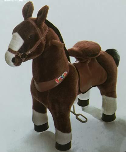 'Pony Cycle Mister ED Cheval Marron, Pony sur roulettes fahrendes Cheval à bascule et Doudou pour votre enfant de mypony (Medium)