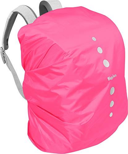 Playshoes Unisex Kinder Regenhülle für Rucksack Gepäck,Rosa(18 pink),M