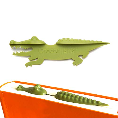 CHF Bookmarks for Kids,3D Funny Animal Crocodile Cool Bookmarks for Boys Girls Wacky Cute Bookmark