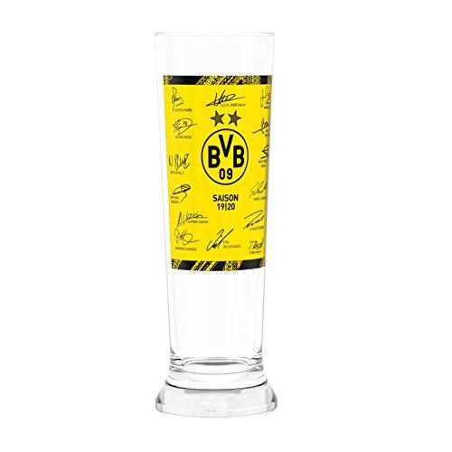 Borussia Dortmund BVB Pilsglas/Glas *** Unterschriften ***
