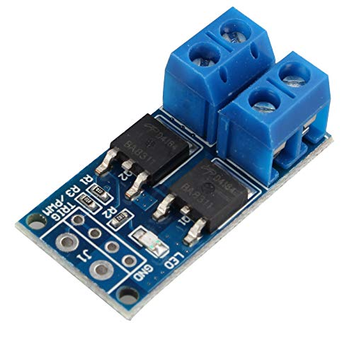 HALJIA 15A 400W DC 5V-36V Large Power Mosfet MOS FET Trigger Electronic Switch Driver Module PWM Regulator Control Panel for High-Power Equipment Motor LED Strip DC Motor Micro Pump Solenoid Valve