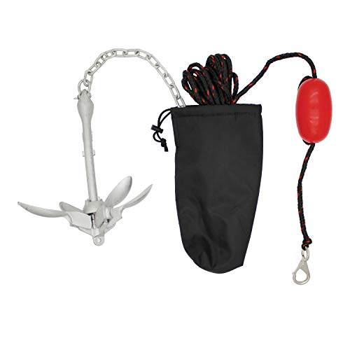 Extreme Max 3006.6785 BoatTector Complete Deluxe Grapnel Anchor Kit for Small Boats, Kayaks, PWC, Jet Ski, Paddle Boards, etc. -3.5 lbs