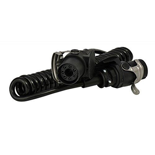 EBS - ABS Spiralkabel /Elektrowendel mit 2 Steckern 7-polig /4 m /NKW LKW