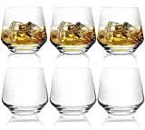 [6-Pack,12.9 Oz]DESIGN•MASTER-Premium Fashion Whiskey Glasses, Large-capacity Scotch Whisky, Bourbon, Cocktails, RUM, Durable Whiskey Glasses for party and camping