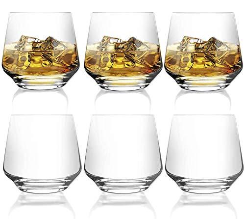 [6-Pack, 380ml/12.9oz] DESIGN•MASTER- Bicchieri Senza Piombo, Ideali per Vino Rosso e Bianco,...