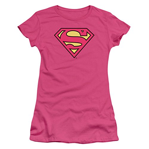 Trevco Women's Superman Logo Pink Shirt S