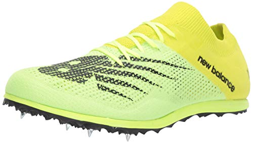 New Balance Men's Long Distance 5000 V7 Running Shoe, Sulphur Yellow/Black, 10.5 M US