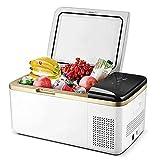 20/30 Refrigerador De Automóviles Del Compresor, Refrigerador Portátil De 12V Refrigerador De Automóvil, Refrigeración, Refrigerador, Coche, Doble, Uso,Blanco