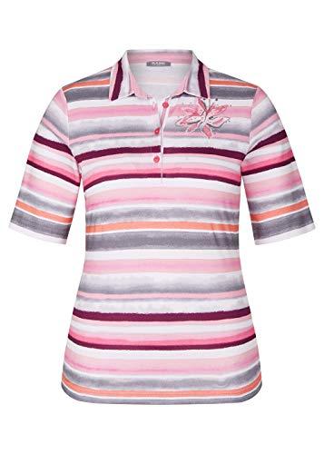 Rabe Damen Poloshirt mit Streifen und Ziersteinen