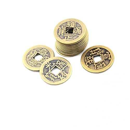 Monedas Antiguas Fortuna Moneda del Dinero De Suerte De La Fortuna Riqueza China Feng Shui Lucky Ching Antiguo Juego De Riqueza Y Éxito Afortunado Chino Monedas Decoración