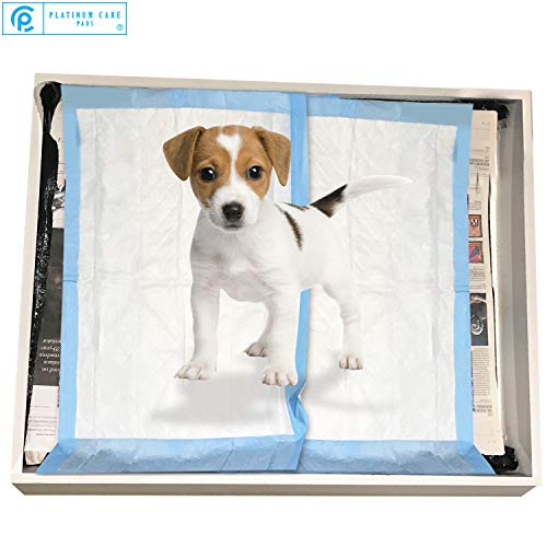 Platinum Care Pads Disposable Pet Training Puppy Pads Size 17x24 Pack of 100