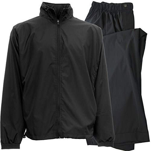Great Deal! IXSPA Men's Packable Golf Rain Suit - 2X-Large Black