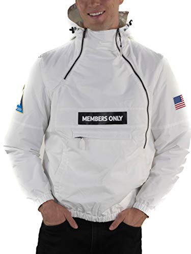 Members Only Men's NASA Windbreaker Jacket-White S