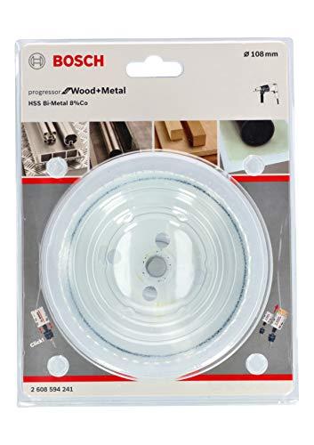 Bosch Professional 2608594241 Lochsäge Progressor für Wood & Metal (Holz und Metall, Ø 108 mm, Zubehör Bohrmaschine)