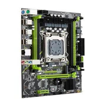 LWCX Fit for Qiyida X79 Chip X79 Placa Base LGA 2011 Placa Base SATA3 Soporte REG ECC Memoria y Xeon E5 Procesador DDR3 ATX Placa Base para Juegos