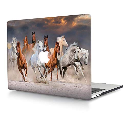 ACJYX Case Compatible with MacBook Air 13 inch 2020 2019 2018 Release A2337 M1 A2179 A1932 Retina Display with Touch ID, Print Pattern Coated Plastic Protective Hard Shell Case, Horse Running