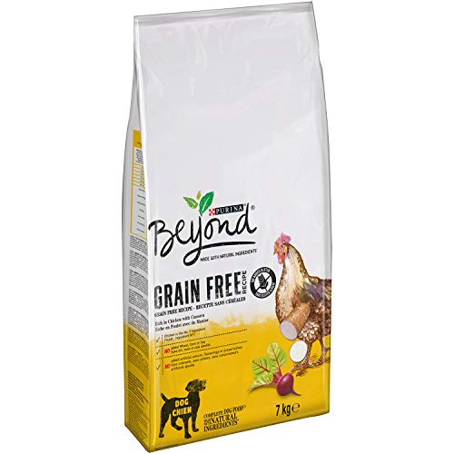 Purina Beyond Grain Free pienso Natural para Perro con Pollo 7 Kg - 1 Sacos