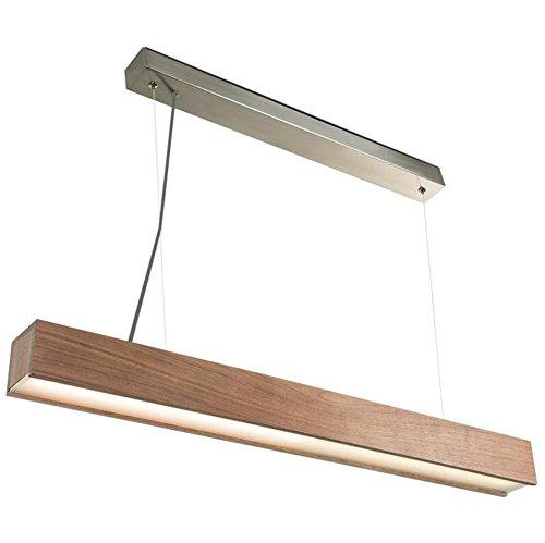 Atmko®Suspension Luminaire Moderne Lustre Suspendu Lumière Style Minimaliste Nordique Contemporain LED lustres en bois massif rectangulaire Pendentif Plafonniers Pour Salon, Bar, Café, Restaurant
