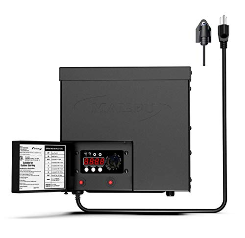 Malibu 600 Watt Power Pack with Sensor Photo Cell and Weather Shield for Low Voltage Landscape Lighting Spotlight Outdoor Transformer 120V Input 12V Output 8100-0600-01